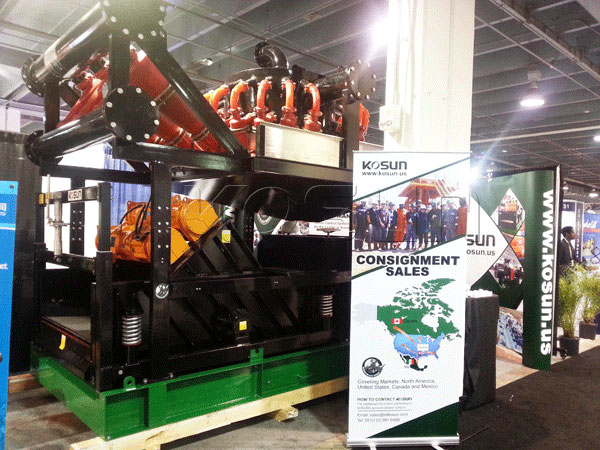 Black Rhino Mud Cleaner of KOSUN Solids Control Equipment, Inc on display